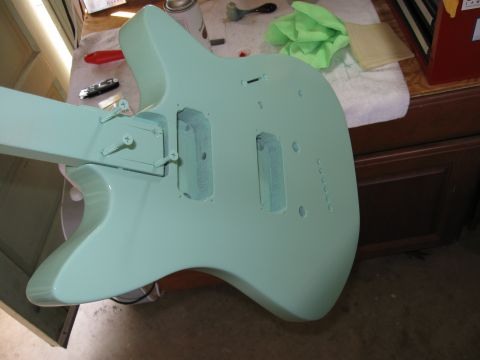 painted guitar body
